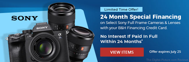 Sony 24 Month No Interest Special Financing