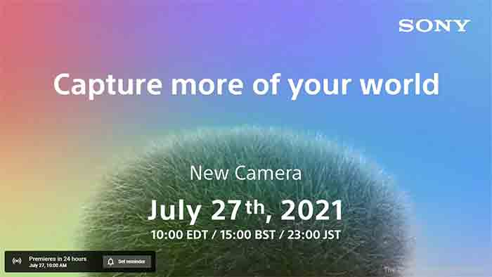 Sony July 27 2021 Announcement Notice