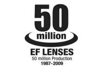 Canon 50 Million EF Lenses Commemorative Logo