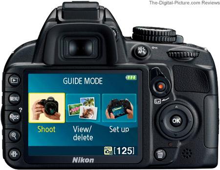 Nikon D3100 DSLR Camera - Back View