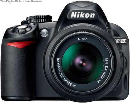 Nikon D3100 DSLR Camera - Front View