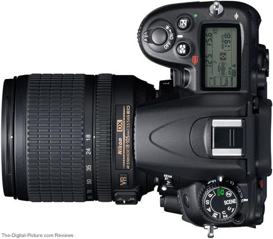 Nikon D7000 DSLR Camera Top