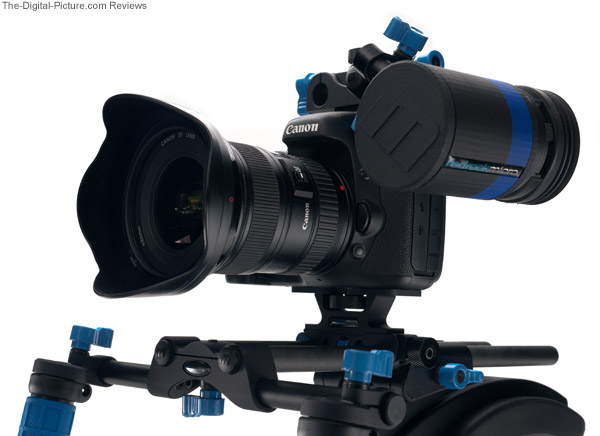 Redrock Micro microEVF High Definition Electronic HDSLR Viewfinder - Front/Side View