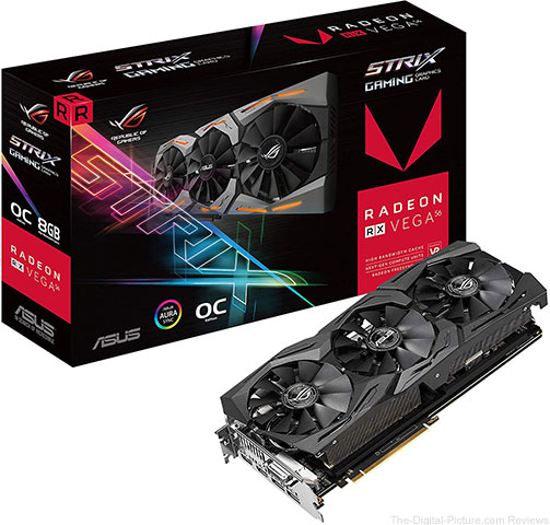 ASUS ROG-STRIX-RXVEGA56-O8G-GAMING 8GB OC Edition Graphics Card