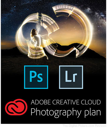 12-Month Adobe CC Photography Plan with 20GB Cloud Storage and Gift Card Kit
