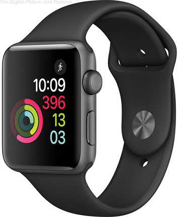 Apple Watch Series 2 42mm Smartwatch (Space Gray Aluminum Case, Black Sport Band) - $319.99 Shipped (Reg. $399.00)