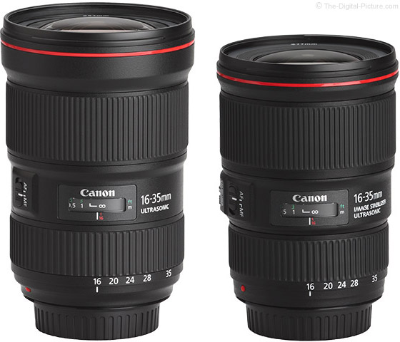 Canon EF 16-35mm f/2.8L III vs. EF 16-35mm f/4L IS USM Lens