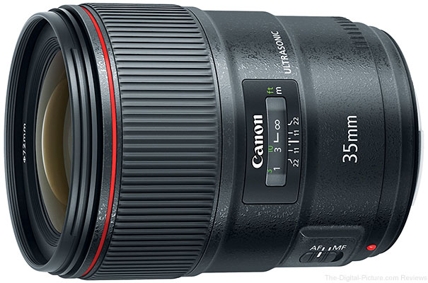 Canon Introduces EF 35mm f/1.4L II USM with Blue Spectrum Refractive Optics