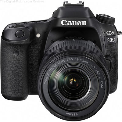 Canon EOS 80D with EF-S 18-135mm f/3.5-5.6 IS USM Lens