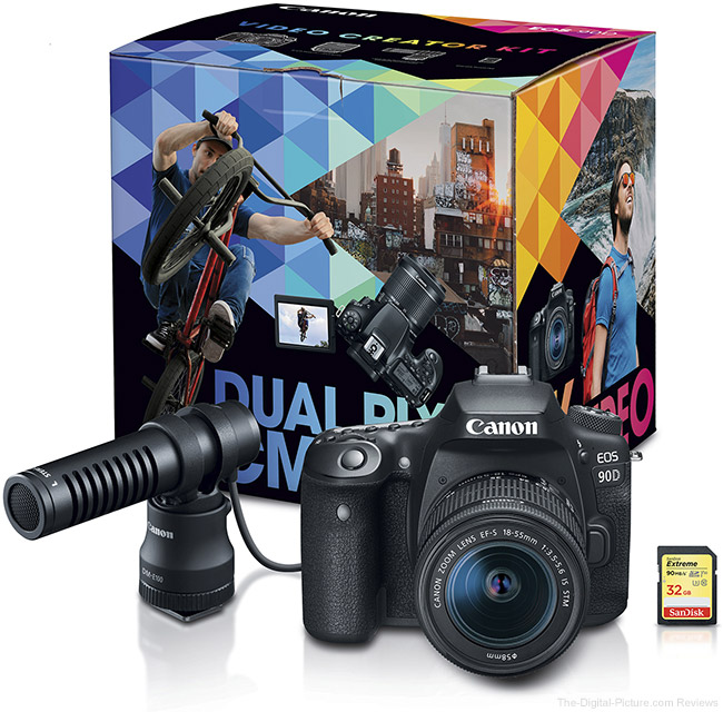 Canon EOS 90D Video Creator Kit