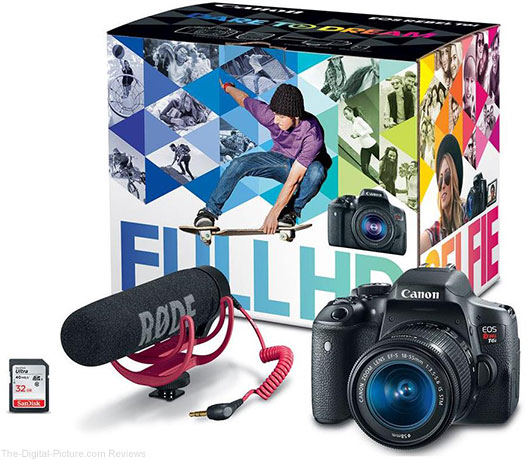 Canon EOS Rebel T6i + 18-55 IS STM & PIXMA PRO-100 Printer Bundle