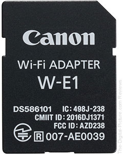 Where is the Canon W-E1 Wi-Fi Adapter?