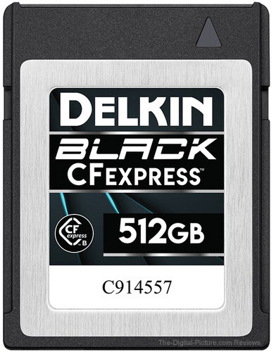 Delkin Devices 512GB BLACK CFexpress Type B Memory Card