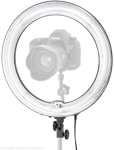 "Flashpoint 13"" Vlogger Light AC Powered 50W 5500K Fluorescent Ring Light with Bag"