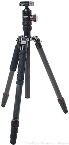 FotoPro X-Go Max 4-Section Carbon Fiber Tripod with Built-In Monopod