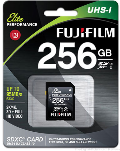 Fujifilm 256GB Elite Performance UHS-I SDXC Memory Card