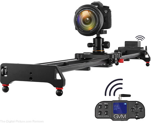 "GVM GT-120WD Wireless Carbon Fiber Motorized Camera Slider (47"") with Bluetooth Remote"