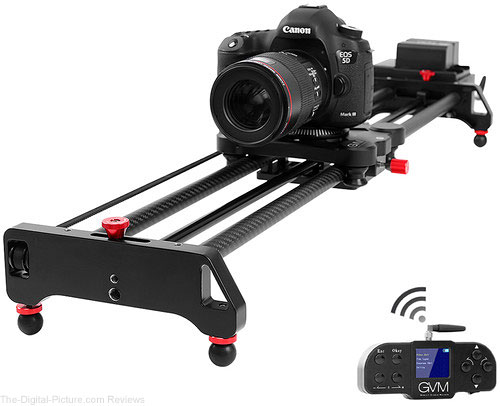 "GVM GT-80WD Wireless Carbon Fiber Motorized Camera Slider (31"") with Bluetooth Remote"