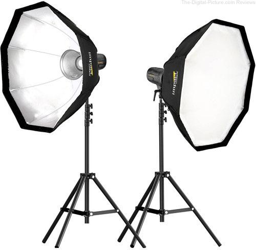 Genaray PortaBright 2-Light Daylight LED Battery-Powered Monolight Kit