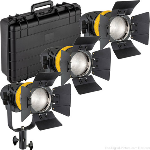 Genaray Torpedo Portable Daylight Focusing LED 3-Light Kit