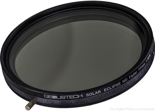 Genustech 77mm Solar Eclipse Variable ND and Circular Polarizing Filter In Stock at B&H