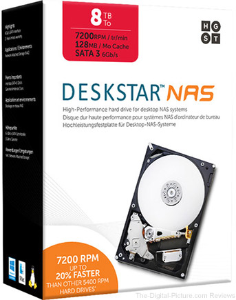 "HGST 8TB Deskstar 7200 rpm SATA III 3.5"" Internal NAS Drive Kit - $259.00 Shipped (Reg. $289.00)"