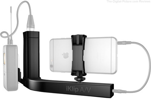 IK Multimedia iKlip A/V Smartphone Grip with Integrated Mic Preamp