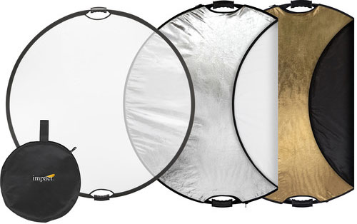 Impact 5 in 1 Collapsible Circular Reflector with Handles 42in