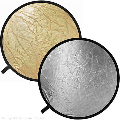Impact Collapsible Circular Reflector Disc - Gold/Silver - 42""
