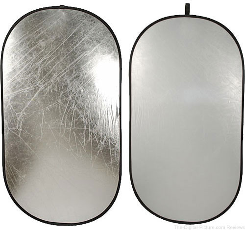 "Impact Collapsible Oval Reflector Disc - Silver/White - 41x74"" - $51.96 Shipped (Reg. $64.95)"