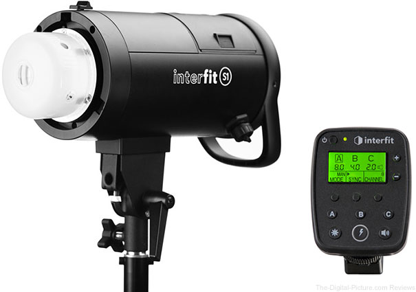 Interfit S1 500Ws HSS TTL Battery-Powered Monolight & TTL Remote In Stock at B&H