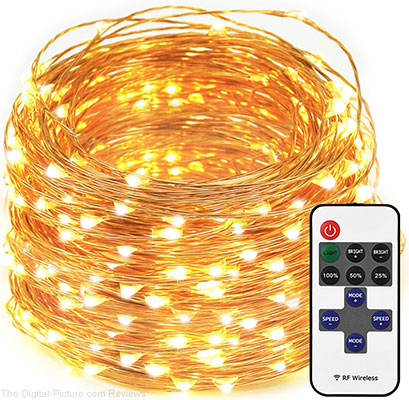 LED String Lights Dimmable with Remote Control, 66ft 200 LEDs