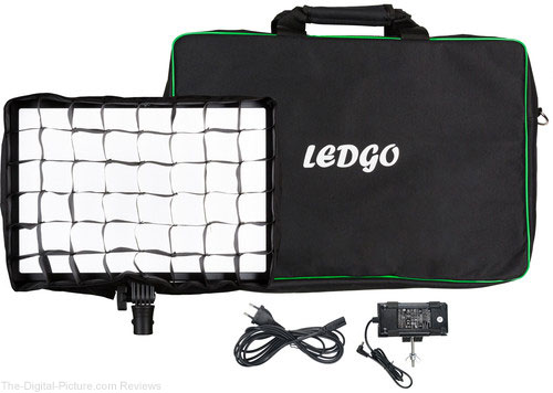 Ledgo LG-E2686 Bi-Color LED Large Pad Light Kit with Eggcrate Grid and Bag