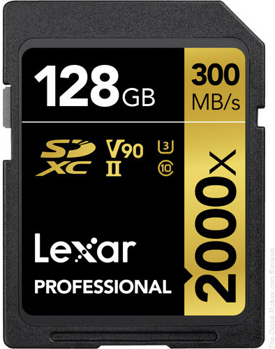 Lexar 128GB Professional 2000x UHS-II SDXC Memory Card with SD Card Reader