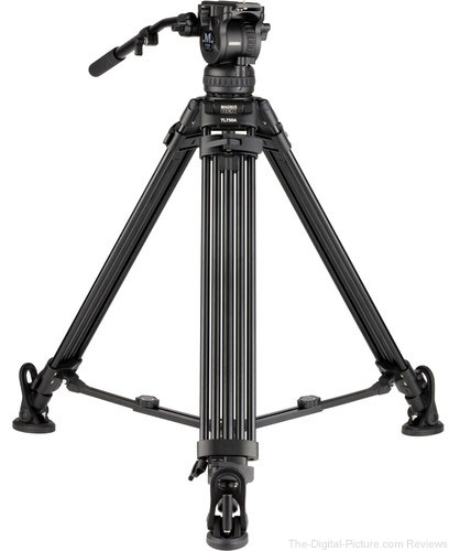 Magnus REX VT-6000 2-Stage Video Tripod with Fluid Head with Stepped Counterbalance