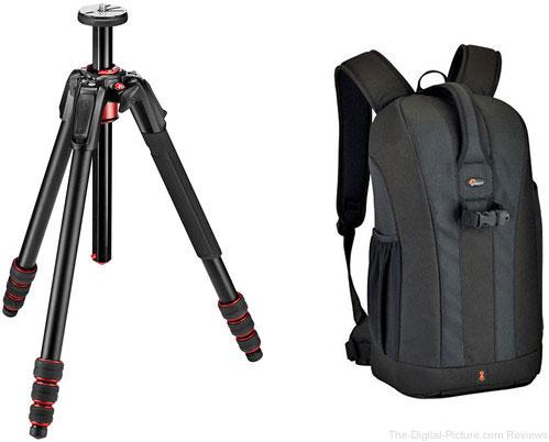 Manfrotto 190go! Aluminum Tripod and Lowepro Flipside 300 Backpack (Black) Kit - $149.95 Shipped (Reg. $289.95)