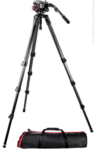 Manfrotto 504HD Head with 536 3-Stage Carbon Fiber Tripod System