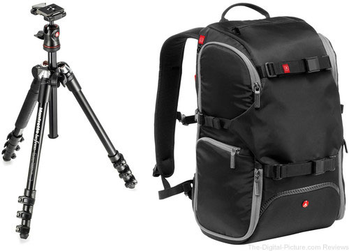 Manfrotto BeFree Compact Travel Aluminum Tripod and Advanced Travel Backpack Kit