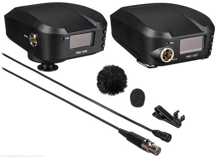 Marantz PMD-750 Camera-Mount Digital Wireless System with Omnidirectional Lavalier Mic