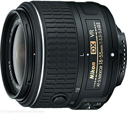 Nikon AF-S NIKKOR 18-55mm f/3.5-5.6G VR II DX Lens In Stock at B&H