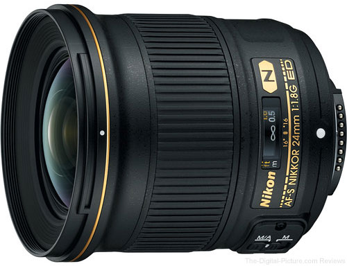 Nikon AF-S NIKKOR 24mm f/1.8G ED Lens Now Shipping at B&H
