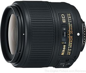 Nikon AF-S NIKKOR 35mm f/1.8G ED Lens Now In Stock at B&H