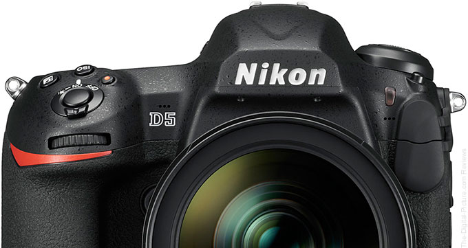 Nikon D5 DSLR Camera Top Section