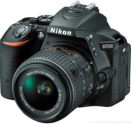 Nikon D5500 DSLR Camera with AF-S DX 18-55mm VR II Lens