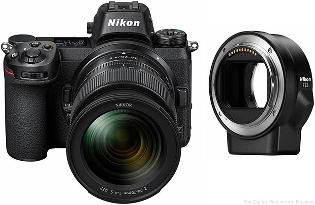Nikon Z 6 with Z 24-70mm f/4 S Lens and FTZ Mount Adapter Kit