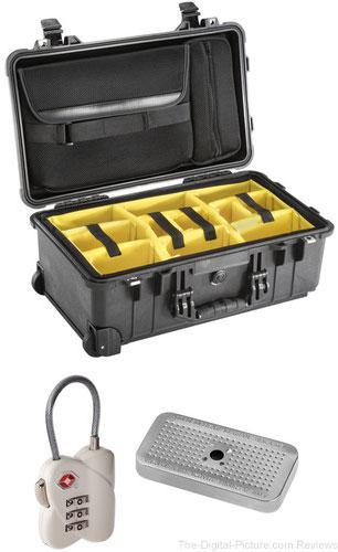 Pelican 1510SC Studio Case with Lid Organizer and Yellow Divider Set, TSA Lock, Desiccant Gel