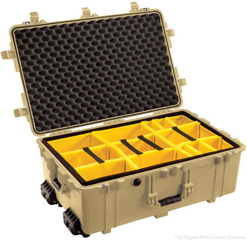 Pelican 1654 Case with Padded Dividers Desert Tan