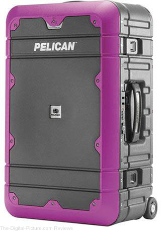 "Pelican EL22 22"" Elite Progear Carry-on Luggage with Enhanced Travel System, Gray and Purple"