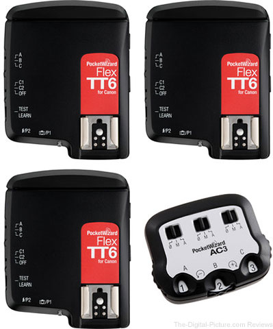 PocketWizard FlexTT6 Transceiver TTL Bonus Bundle for Canon