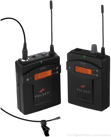 Polsen ULW-96-V2 Camera-Mountable UHF Wireless System/96-Channel (514 to 544 MHz) - $179.99 Shipped (Reg. $259.99)